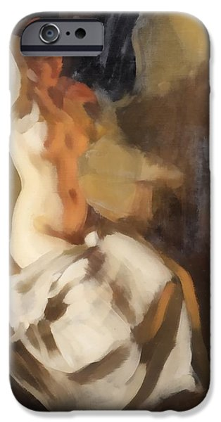 Recently Sold -  - Sheets iPhone Cases - Nude In Fire Light iPhone Case by Anders Zorn