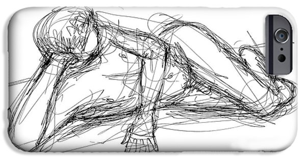 Male Nude Drawing Drawings iPhone Cases - Nude Male Sketches 5 iPhone Case by Gordon Punt