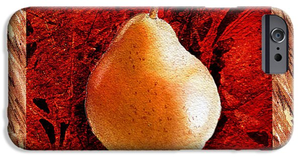 Pears Paintings iPhone Cases - Nude N Beautiful Pear  iPhone Case by Irina Sztukowski