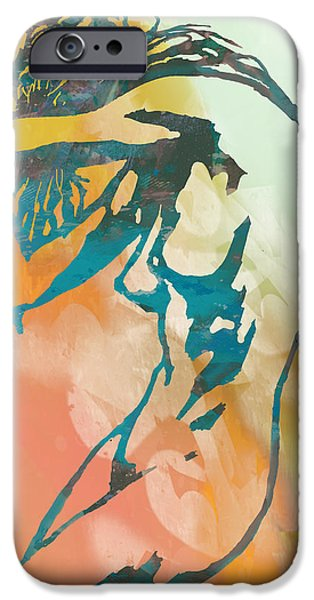 Charcoal Mixed Media iPhone Cases - Nude - pop art etching poster 6 iPhone Case by Kim Wang