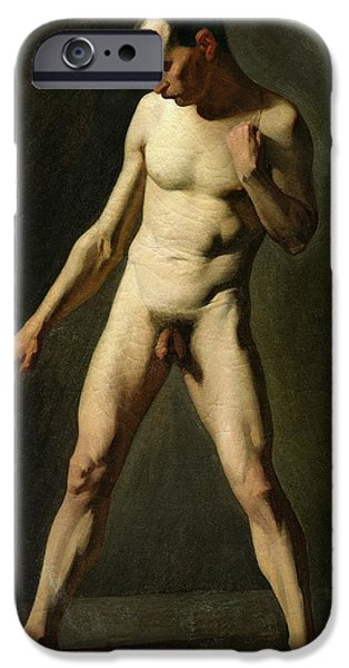 Homo-erotic iPhone Cases - Nude Study iPhone Case by Jean-Francois Millet