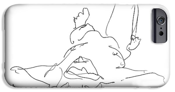 Male Nude Drawing Drawings iPhone Cases - Nude_Male_Drawings-22 iPhone Case by Gordon Punt