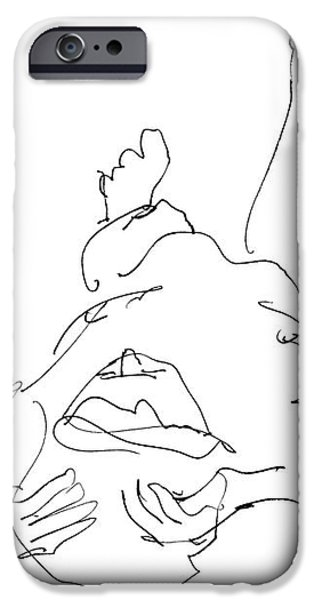 Nude_Male_Drawings-22 iPhone Case by Gordon Punt