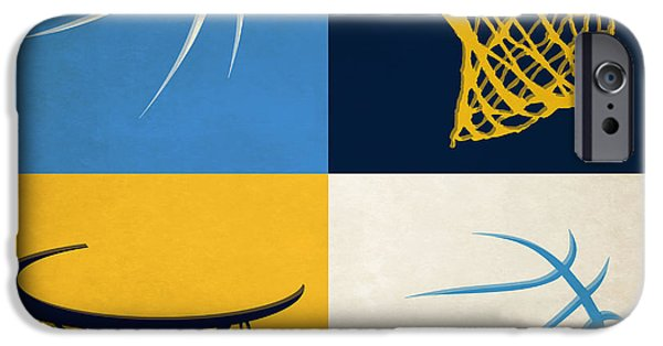 Dunk iPhone Cases - Nuggets Ball And Hoop iPhone Case by Joe Hamilton