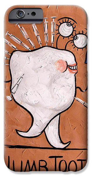 Expressionism Digital Art iPhone Cases - Numb Tooth Dental Art By Anthony Falbo iPhone Case by Anthony Falbo