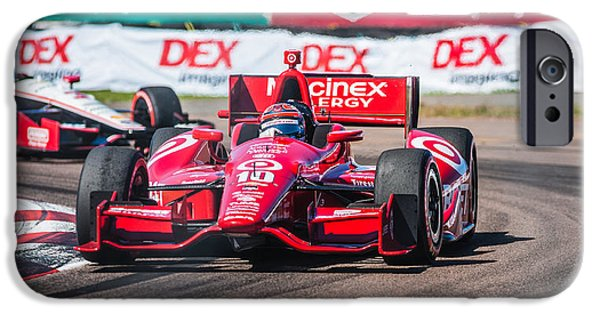Indy Car iPhone Cases - Number 10 iPhone Case by Jeff Donald