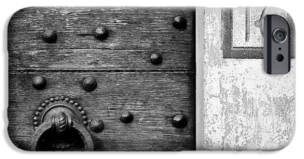 Wooden Door iPhone Cases - Number 16 iPhone Case by Dave Bowman