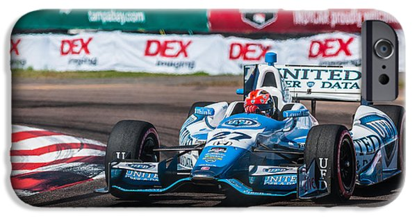 Indy Car iPhone Cases - Number 27 iPhone Case by Jeff Donald