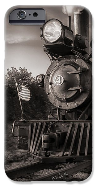 Corporate Art Photographs iPhone Cases - Number 4 Narrow Gauge Railroad iPhone Case by Bob Orsillo
