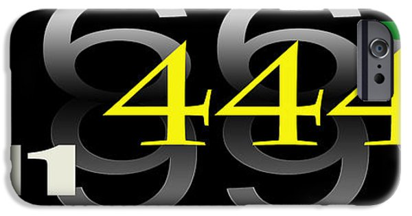 444 iPhone Cases - Numbers iPhone Case by Darrell Storts