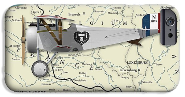 Wwi iPhone Cases - Nungessers Nieuport 17 iPhone Case by Matthew Webb