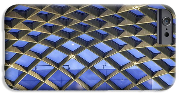 Counterpoint iPhone Cases - Nurb Skylight Structure iPhone Case by Lynn Palmer
