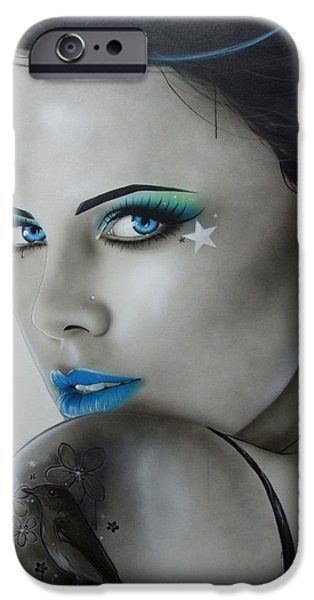 Lips iPhone Cases - Nurture iPhone Case by Christian Chapman Art
