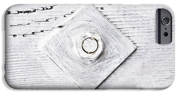 Bolts iPhone Cases - Nut and bolt iPhone Case by Tom Gowanlock