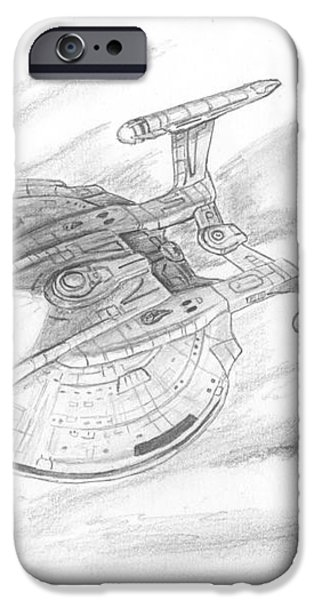 NX-01 Enterprise iPhone Case by Michael Penny