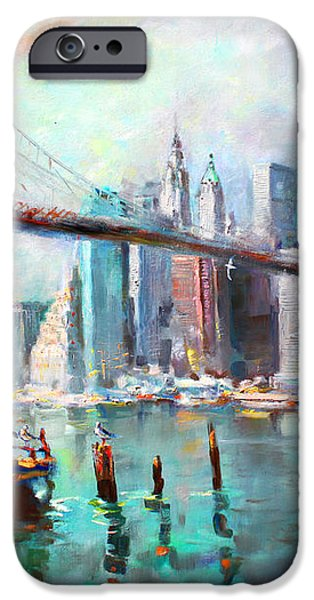 NY City Brooklyn Bridge II iPhone Case by Ylli Haruni