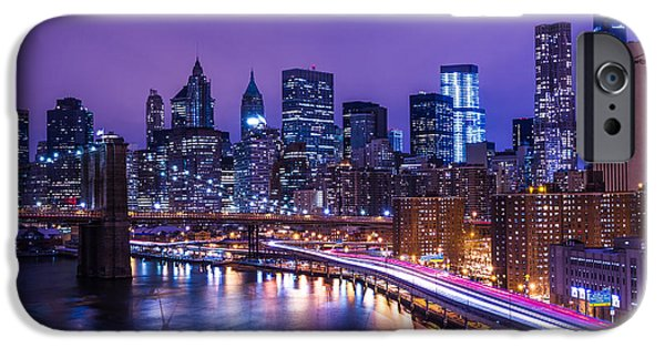 City Scape iPhone Cases - Ny Ny iPhone Case by Paul Tomlin