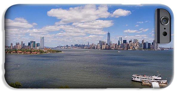 Twin Towers Nyc iPhone Cases - NY Skyline  iPhone Case by Luis Lugo