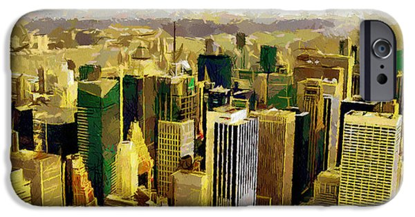 Twin Towers Nyc iPhone Cases - NY through the eyes of birds iPhone Case by Georgi Dimitrov