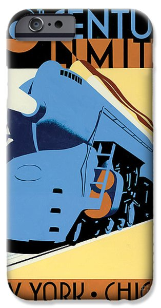 20th Century iPhone Cases - NY to Chicago iPhone Case by Brian James