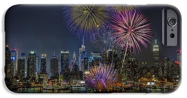 Tall Ship iPhone Cases - NYC Celebrates Fleet Week iPhone Case by Susan Candelario