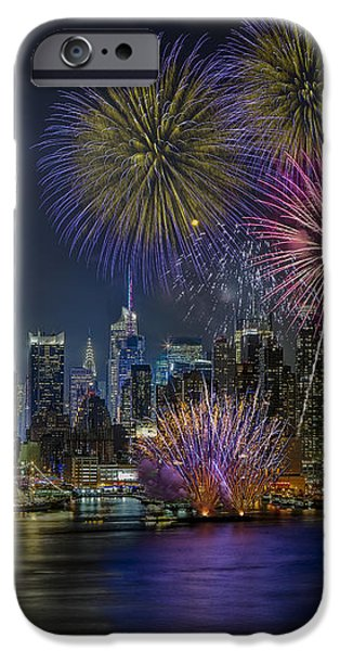 NYC Celebrates Fleet Week iPhone Case by Susan Candelario