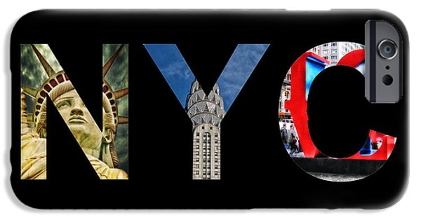 Brooklyn Bridge Mixed Media iPhone Cases - Nyc  iPhone Case by Celestial Images