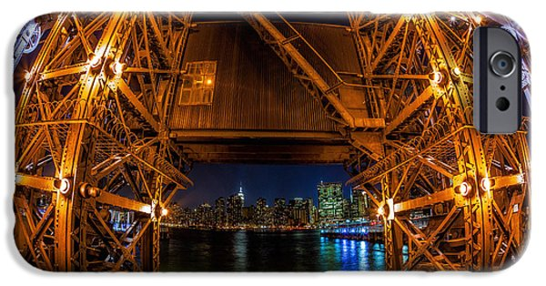 Empire State iPhone Cases - NYC from Long Island City iPhone Case by Jerry Fornarotto