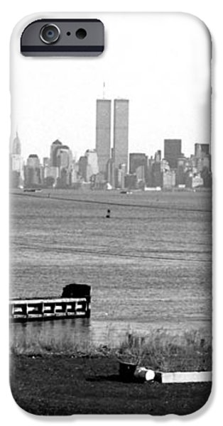 NYC in the Distance 1990s iPhone Case by John Rizzuto