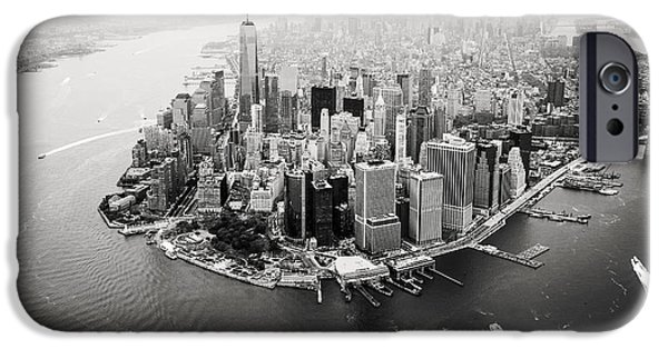 United States iPhone Cases - NYC Manhattan Aerial iPhone Case by Nina Papiorek