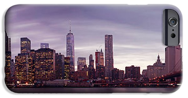 Destiny Photographs iPhone Cases - NYC Panorama iPhone Case by Nina Papiorek