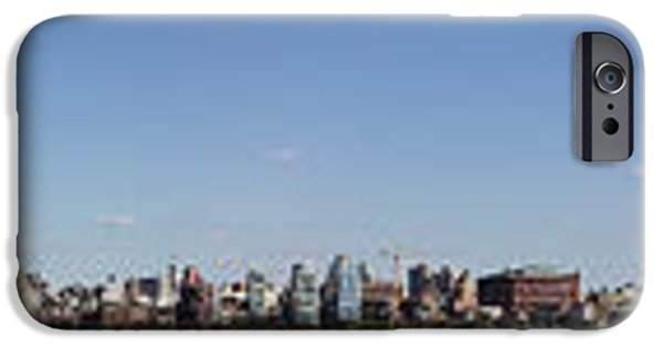 City Scape Photographs iPhone Cases - NYC Panoramic iPhone Case by Tony Cordoza