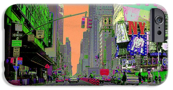 Carnegie Museum iPhone Cases - NYC Port Authority and 42nd iPhone Case by David Jordan