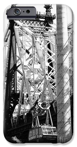 Built Structure iPhone Cases - NYC Queensboro Bridge iPhone Case by Robert Yaeger