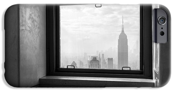 Monochrome iPhone Cases - NYC Room with a View iPhone Case by Nina Papiorek