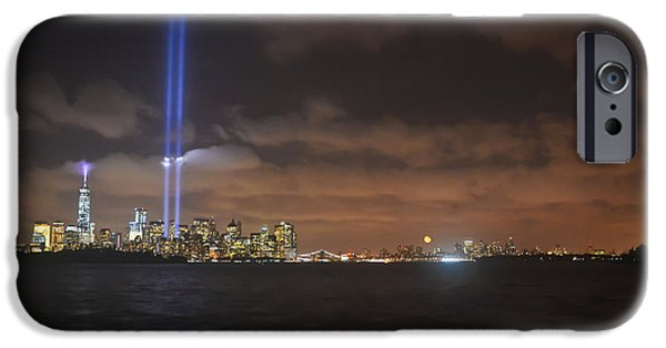 Twin Towers Nyc iPhone Cases - NYC-Sept 11 iPhone Case by PatriZio M Busnel
