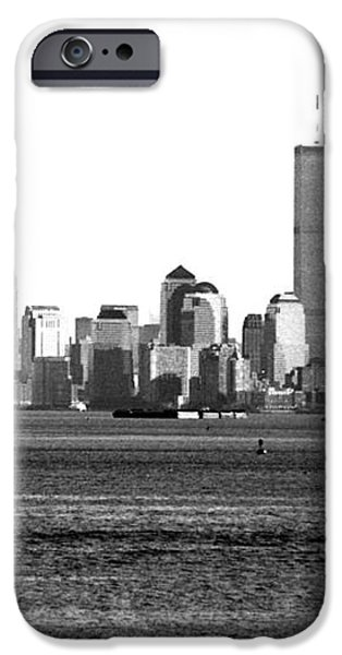 NYC Skyline 1990s iPhone Case by John Rizzuto