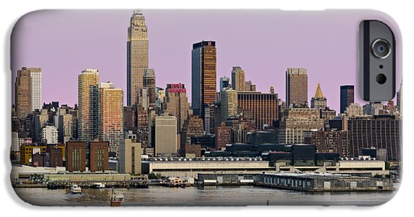Empire State iPhone Cases - NYC Skyline And ATB Last Light iPhone Case by Susan Candelario