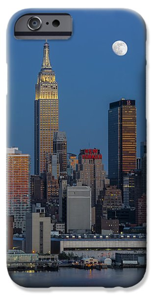 Empire State iPhone Cases - NYC Skyline Blue Hour iPhone Case by Susan Candelario