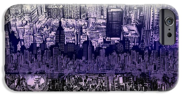 Empire State iPhone Cases - Nyc Tribute Skyline 2 iPhone Case by MB Art factory