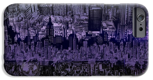 Empire State iPhone Cases - Nyc Tribute Skyline iPhone Case by MB Art factory