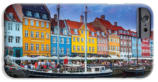 Facade iPhone Cases - Nyhavn Canal iPhone Case by Inge Johnsson