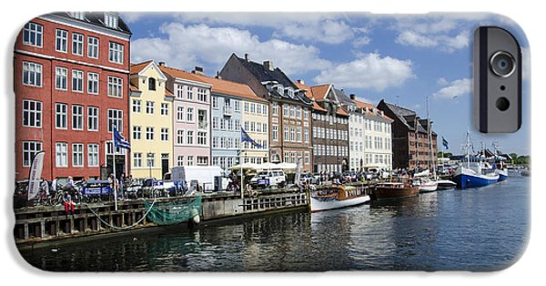 Wooden Ship iPhone Cases - Nyhavn - Copenhagen Denmark iPhone Case by Jon Berghoff