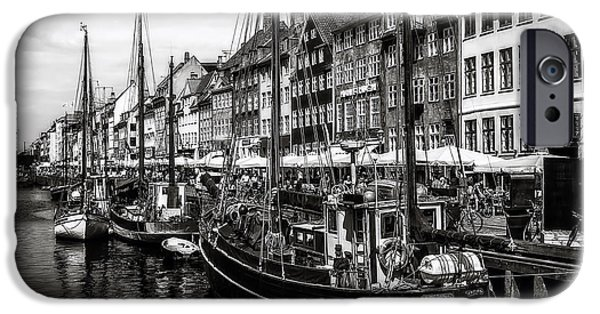 Denmark iPhone Cases - Nyhavn Harbor iPhone Case by Erik Brede