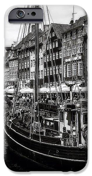 Nyhavn Harbor iPhone Case by Erik Brede
