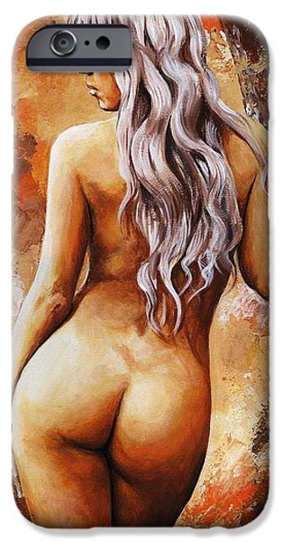 Figure iPhone Cases - Nymph 02 iPhone Case by Emerico Imre Toth