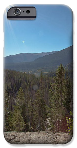 Nymph Lake and Longs Peak iPhone Case by Kay Pickens