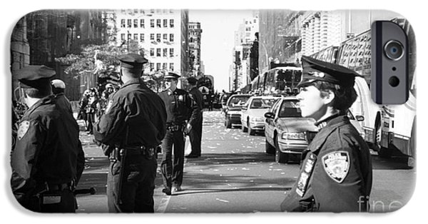 Law Enforcement Art iPhone Cases - NYPD 1990s iPhone Case by John Rizzuto