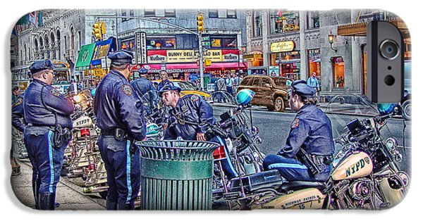 Police Digital iPhone Cases - NYPD Highway Patrol iPhone Case by Ron Shoshani
