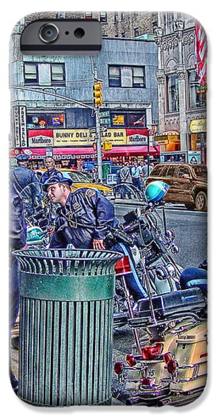 NYPD Highway Patrol iPhone Case by Ron Shoshani
